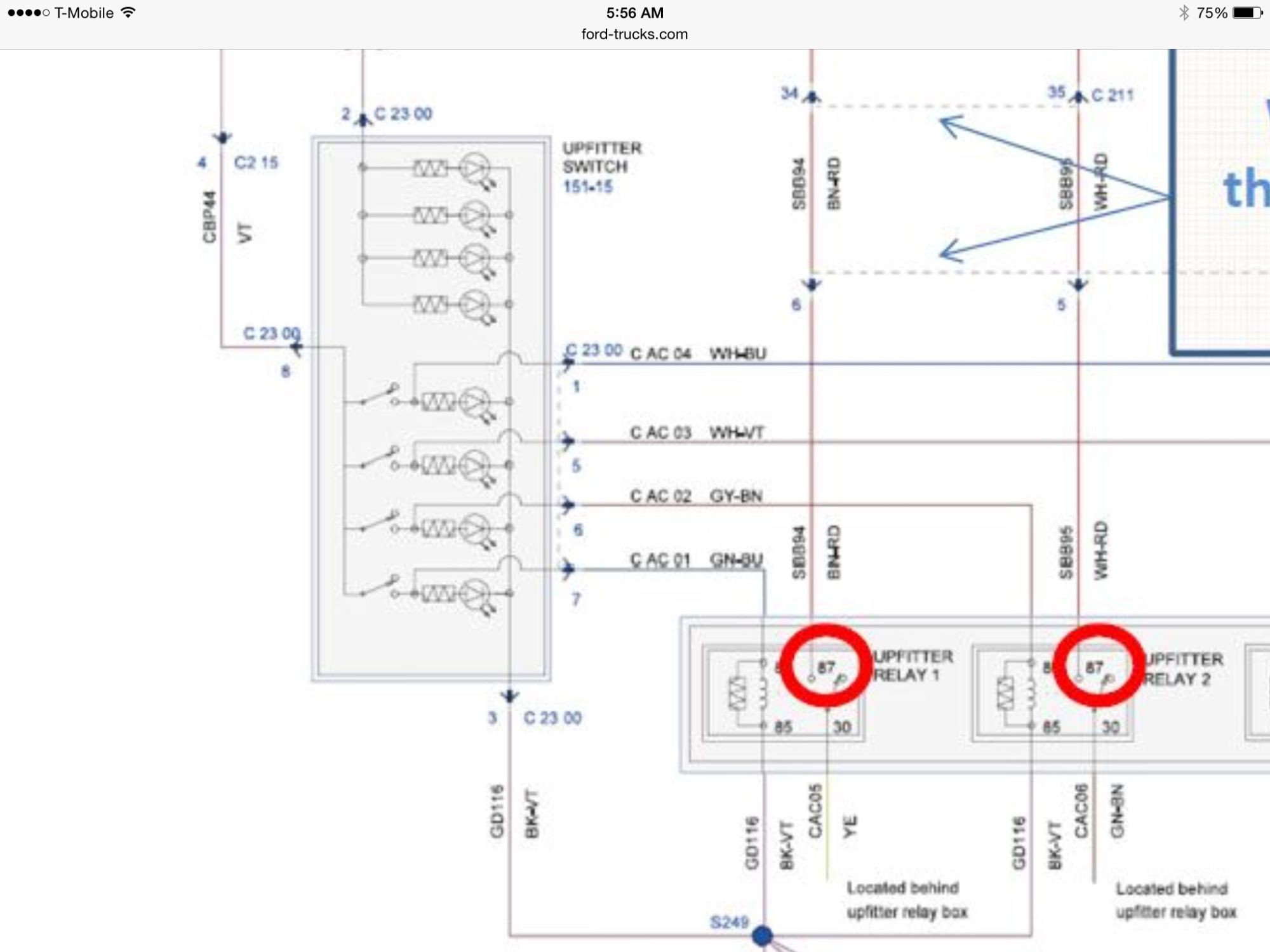 Diagram  F250 Super Duty Upfitter Switches Wiring