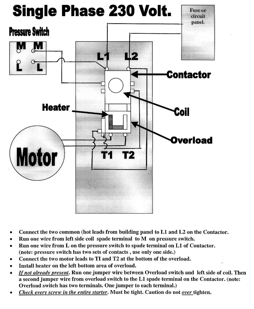 240 Volt Single Phase Wiring Diagram - Example Electrical Wiring ...