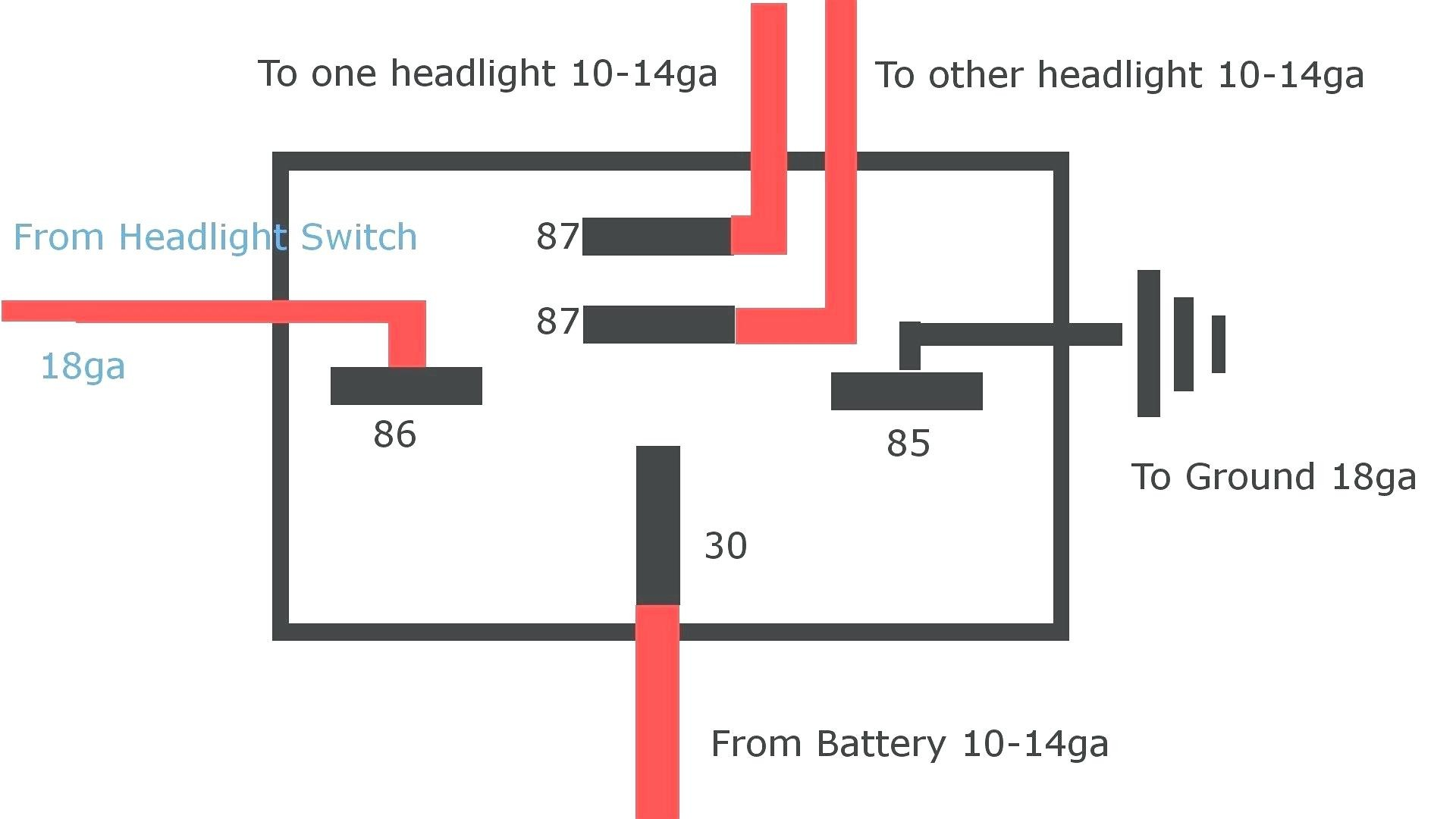 Car Horn Wiring Diagram Fresh Wiring Diagram Car Horn Relay and 4 Pin Bosch In org within Me