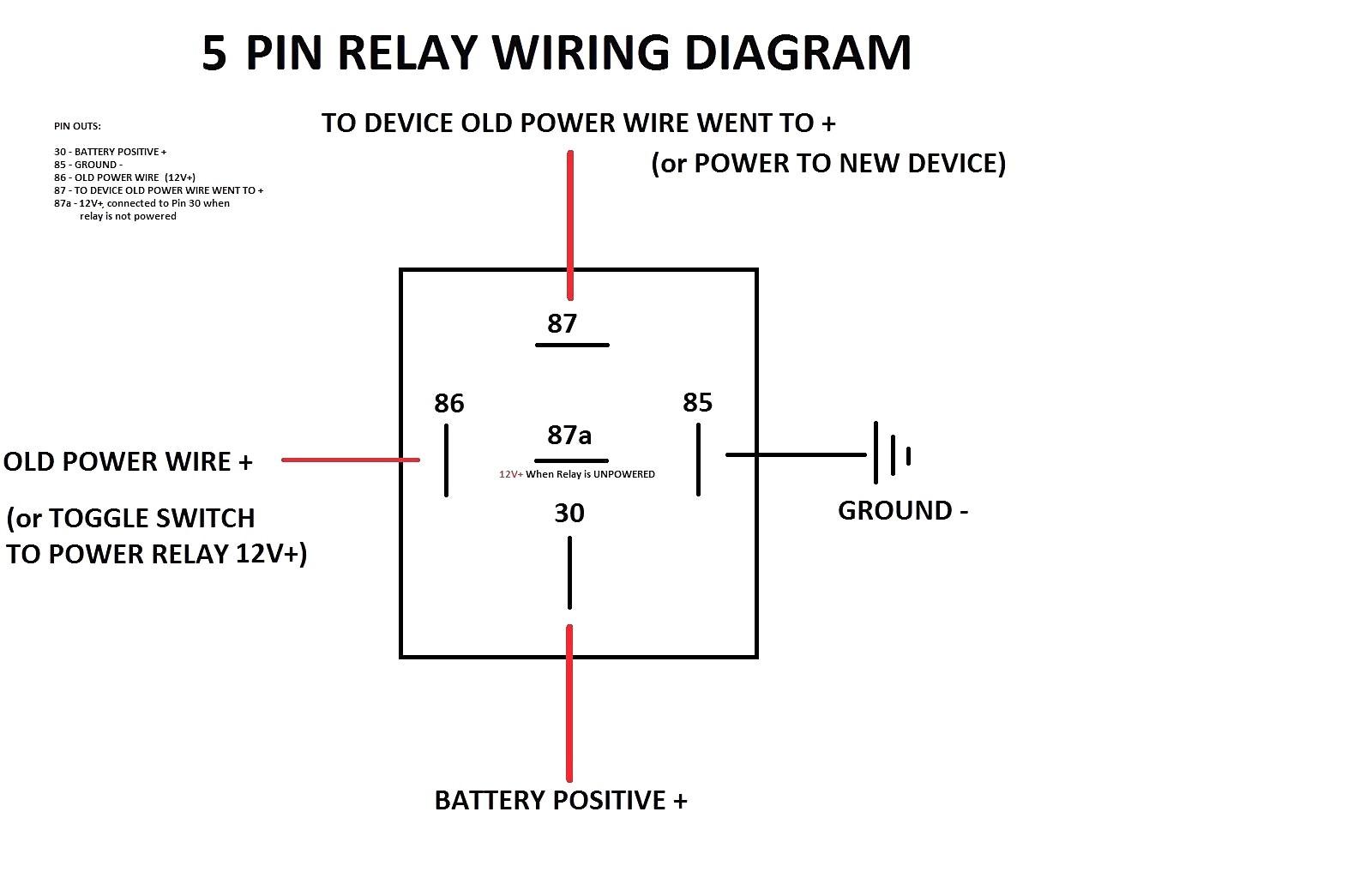 5 Pin Relay Wiring Diagram Carlplant Endearing Enchanting 4 For 2 Flasher
