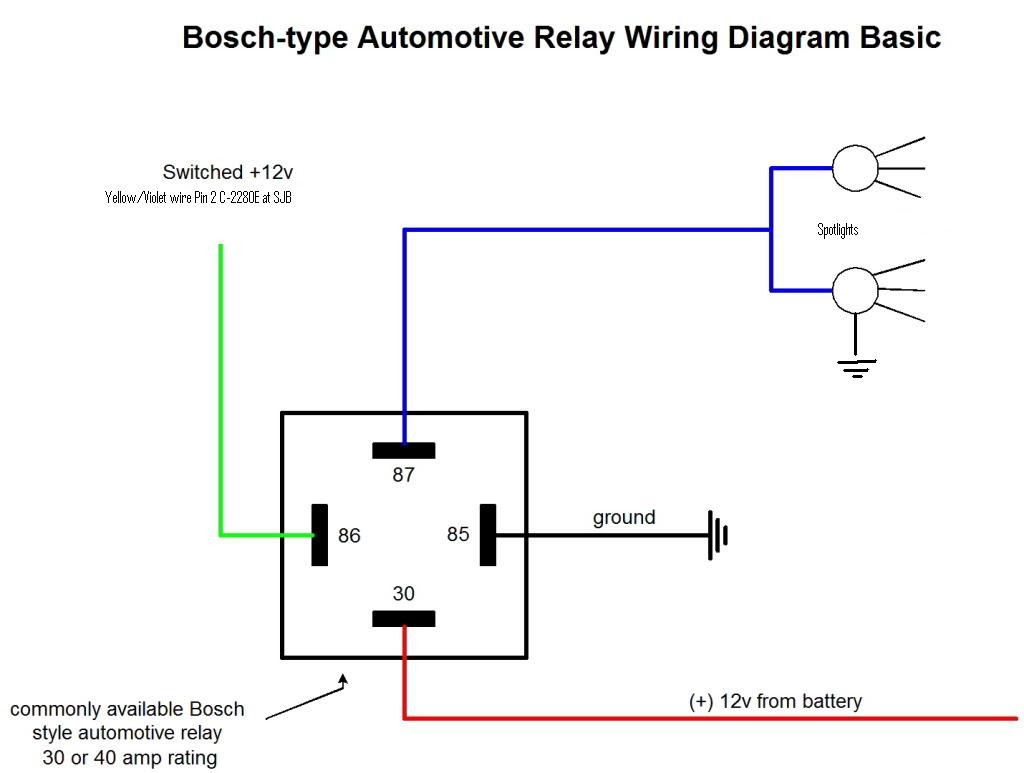 Spotlight Wiring In Relay Diagram Gooddy Org For Spotlights