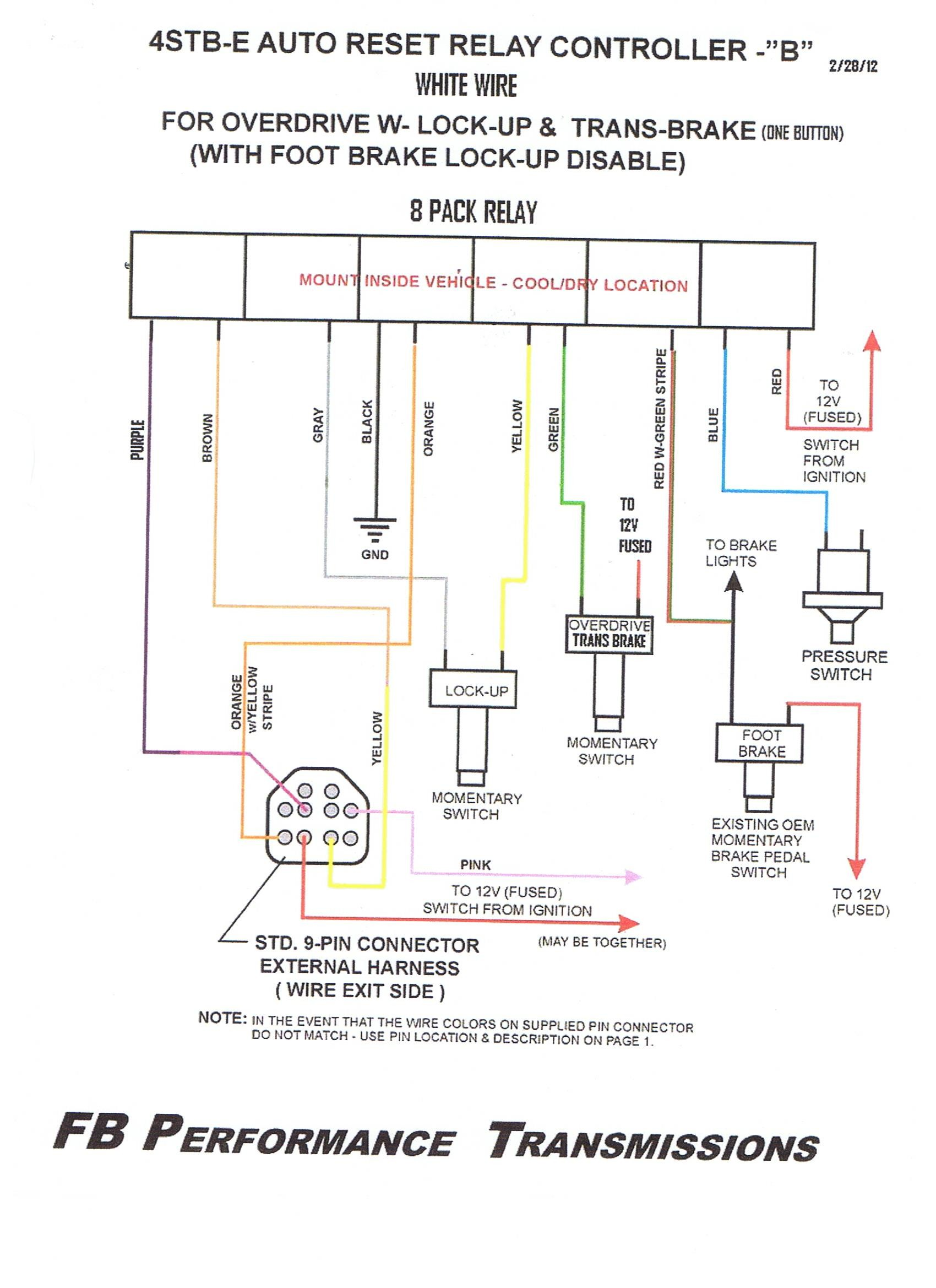 WIRING and Operation 9 pin Feb 2012
