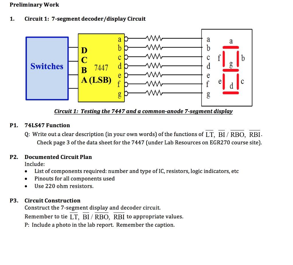 7447 Circuit Elegant Wiring Diagram Image 7 Segment Logic 1 Decoder Display Switchesb