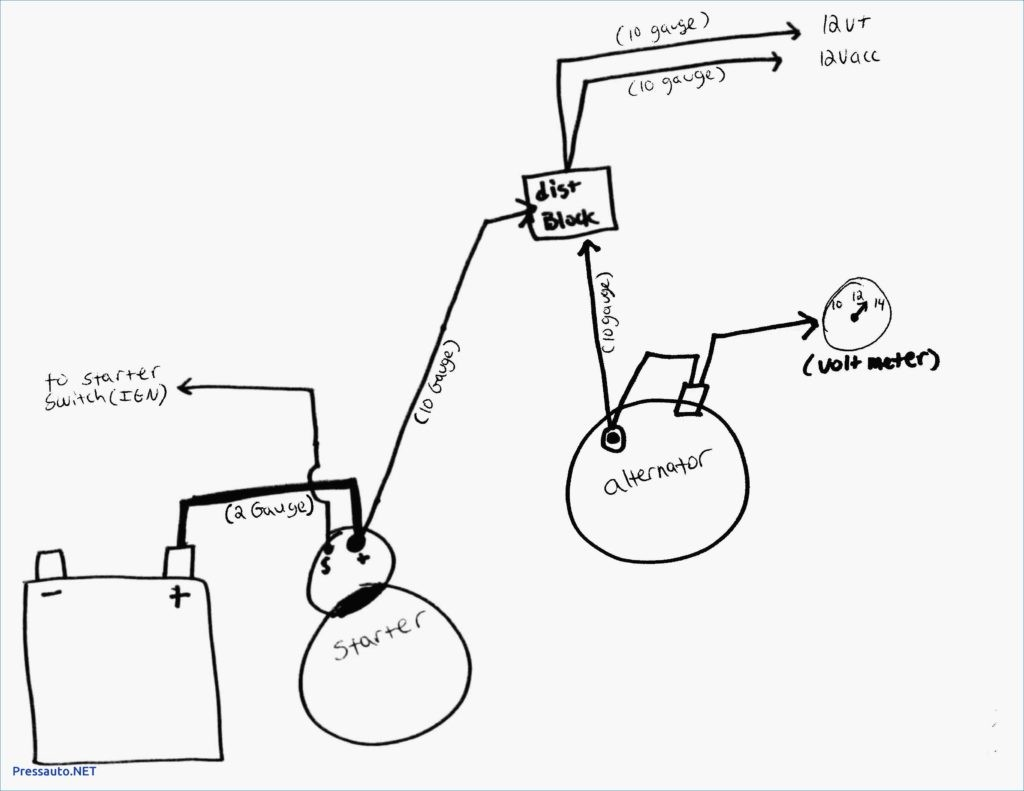 e Wire Alternator Wiring Diagram Chevy Throughout Gm 1 To