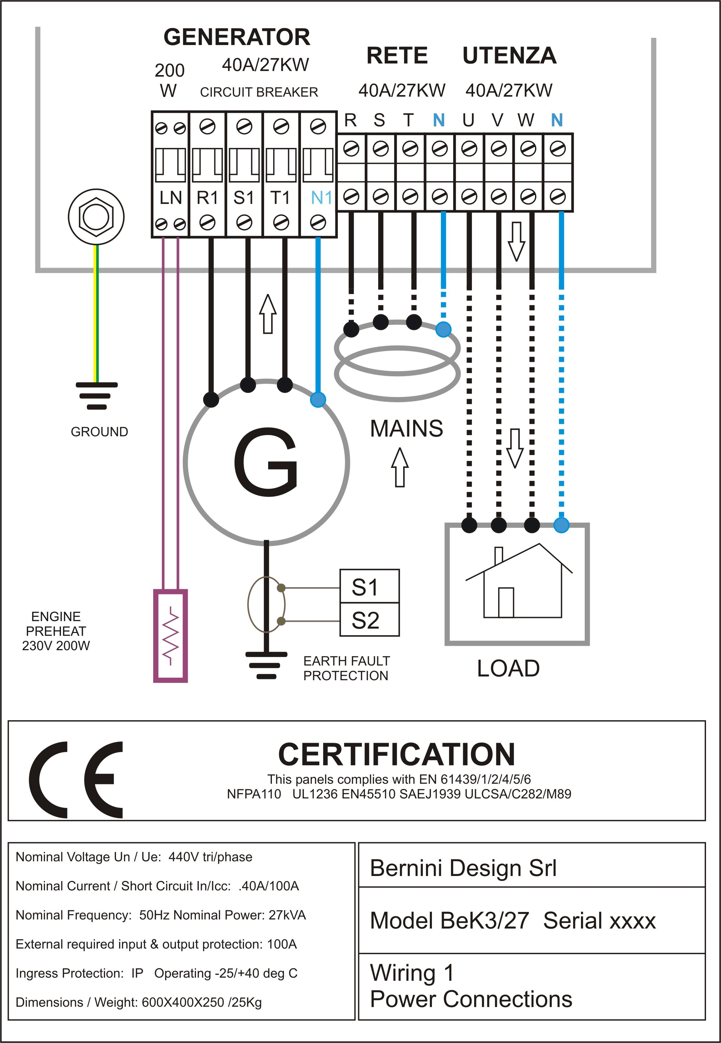 Control Diagram Elegant Sel Generator Control Panel Wiring Diagram Ac Connections