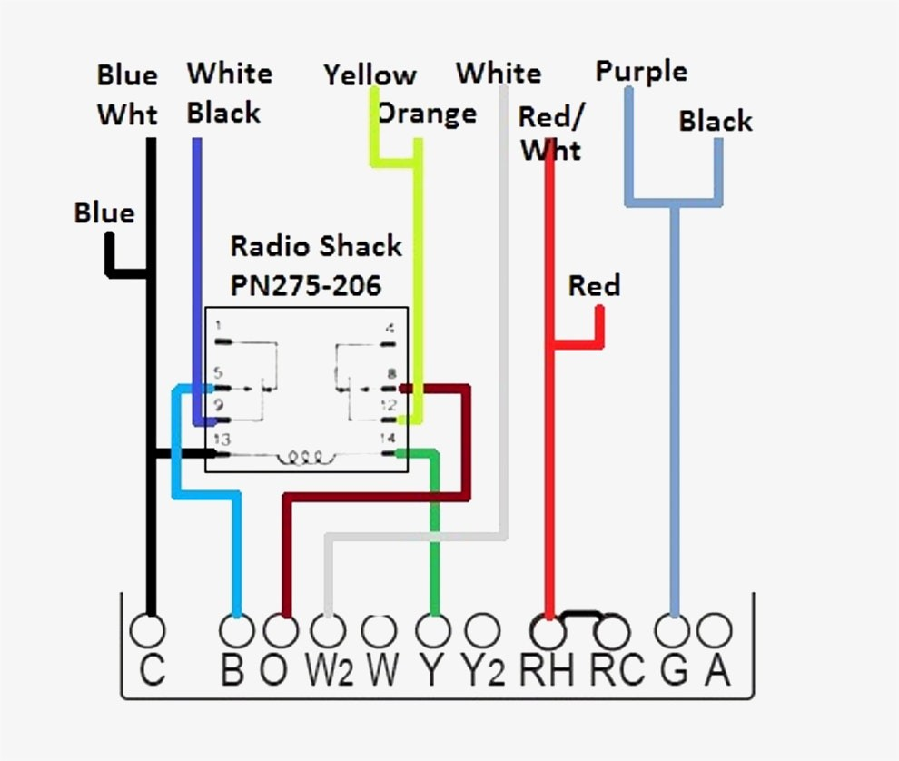 Thermostat Wire Diagram Wiring Carrier Trane In