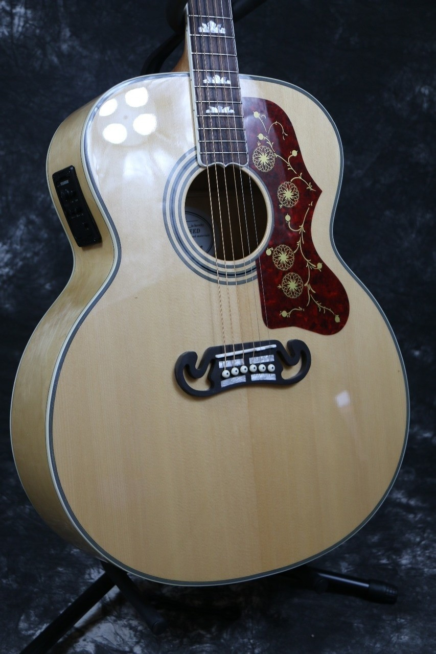 Starshine Style 6 Strings SR OD J200D Jumbo Electric Acoustic Guitar Solid Spruce With