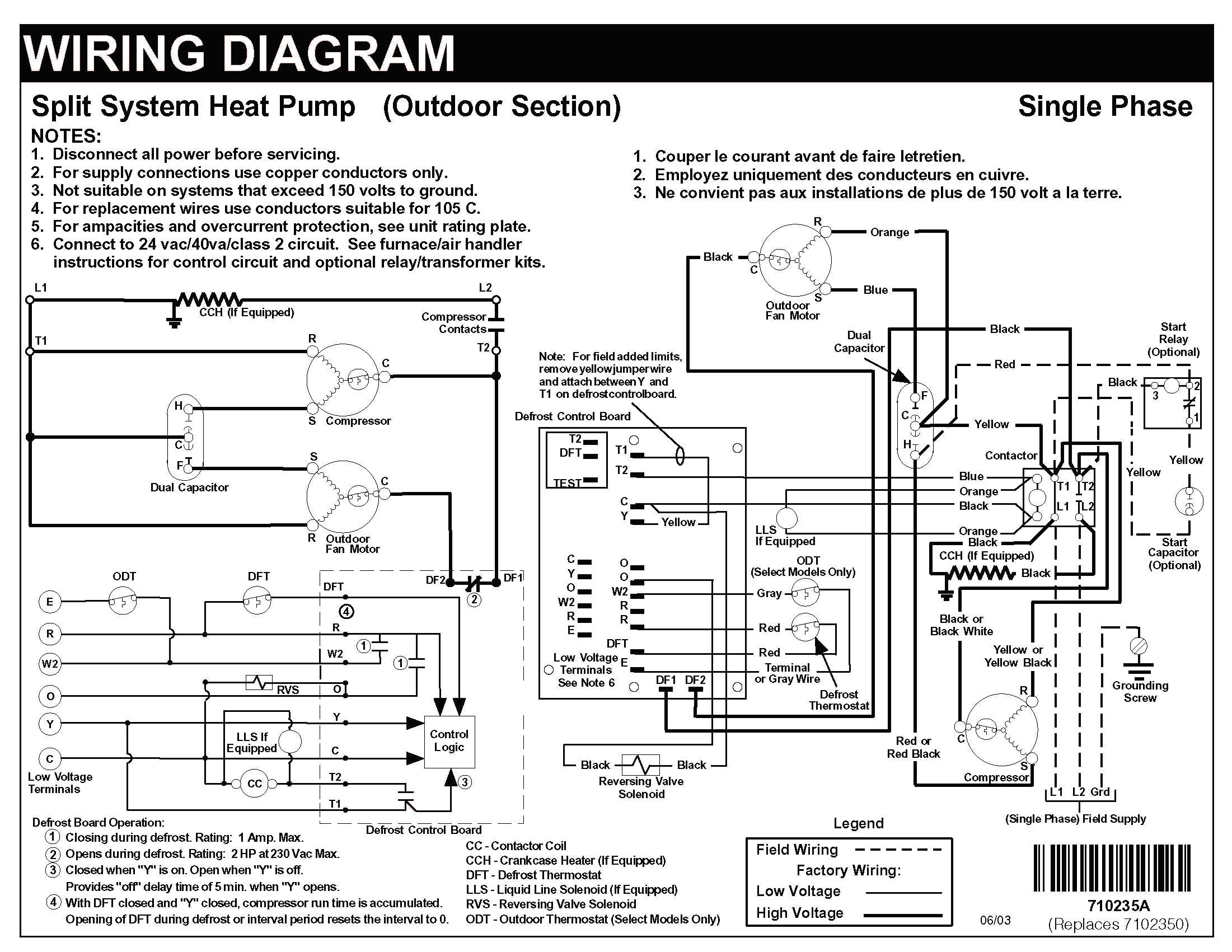 Ameristar Heat Pump Wiring Diagram New Heat Pump Wiring Diagram Carrier  Thermostat With Nordyne Split