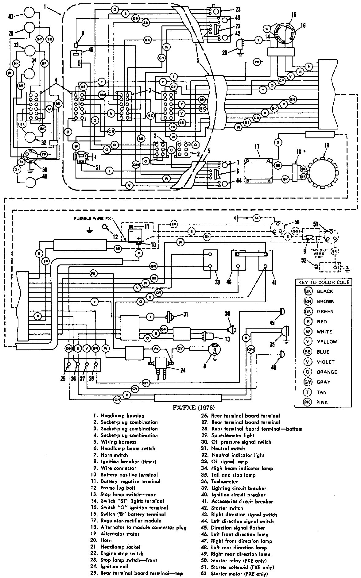 WRG-5771] Harley Softail Turn Signal Wiring Diagram on