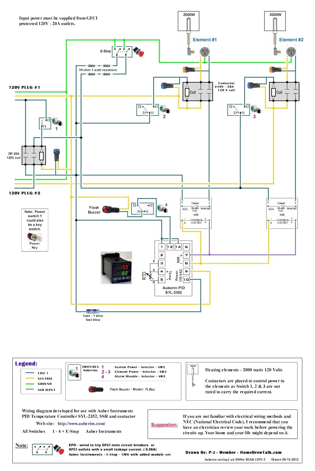 120V Dual Element Wiring Diagram Home Brew Forums