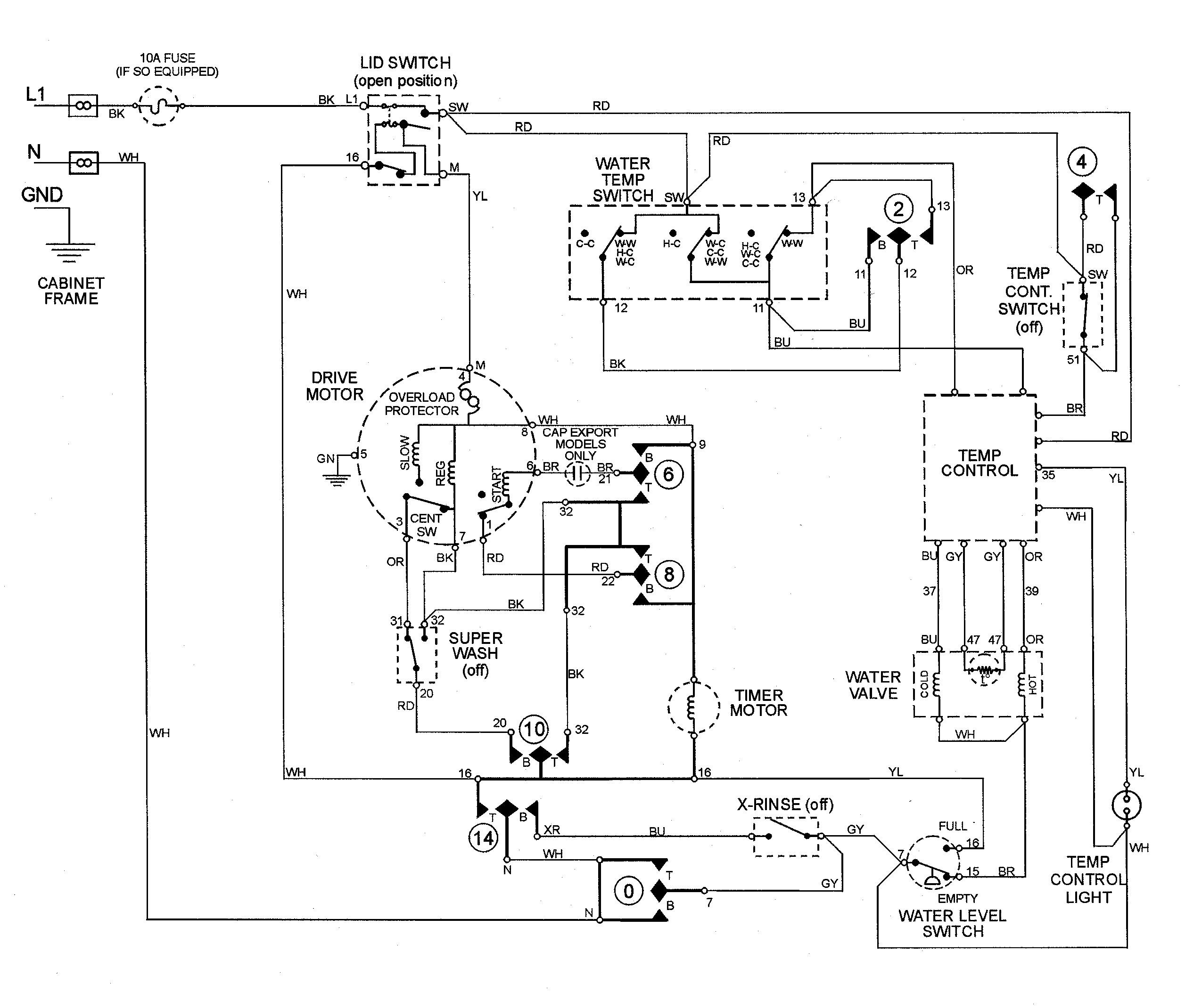 Ge Washing Machine Motor Wiring Diagram Ge Wiring Diagram And