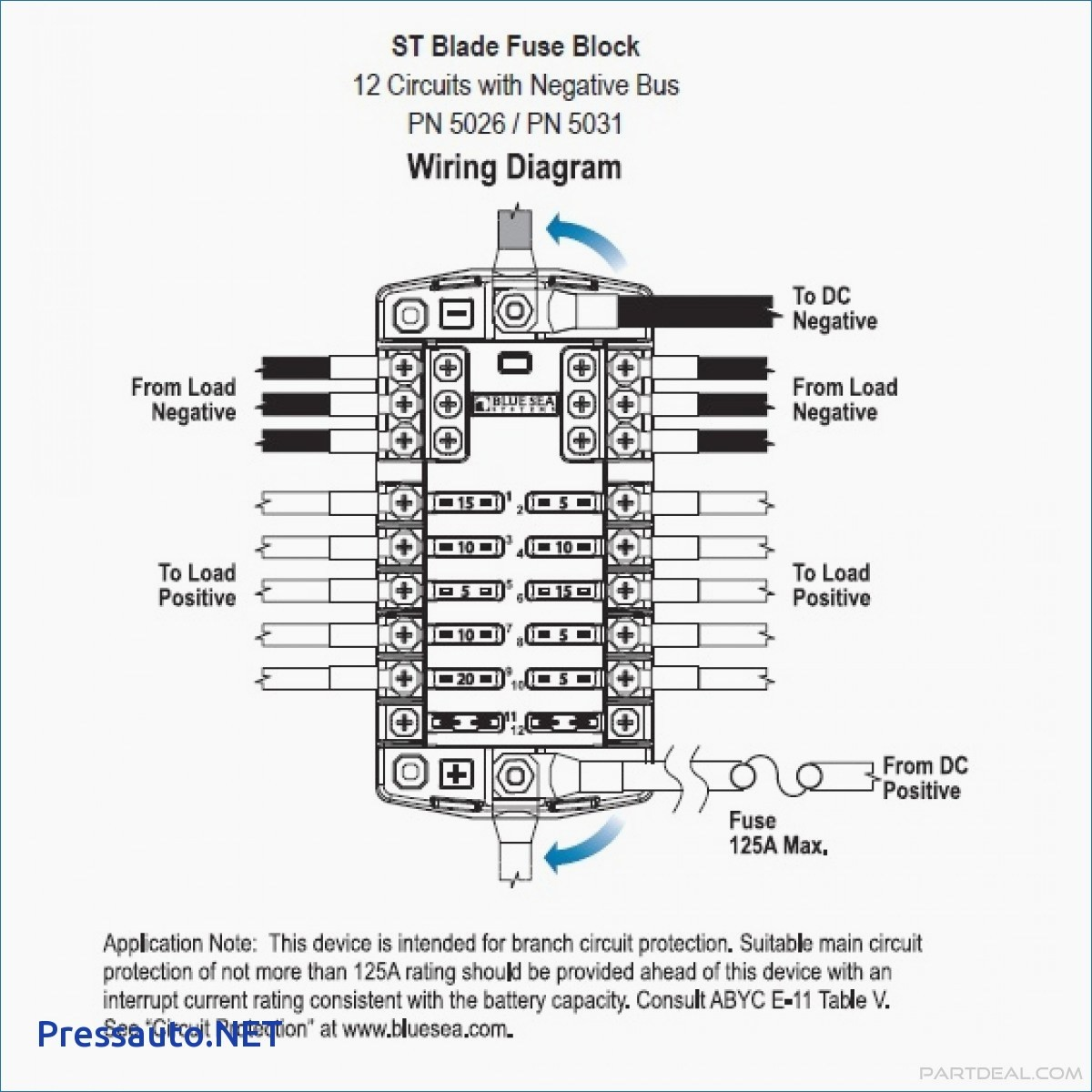 blue sea fuse block wiring diagram elegant