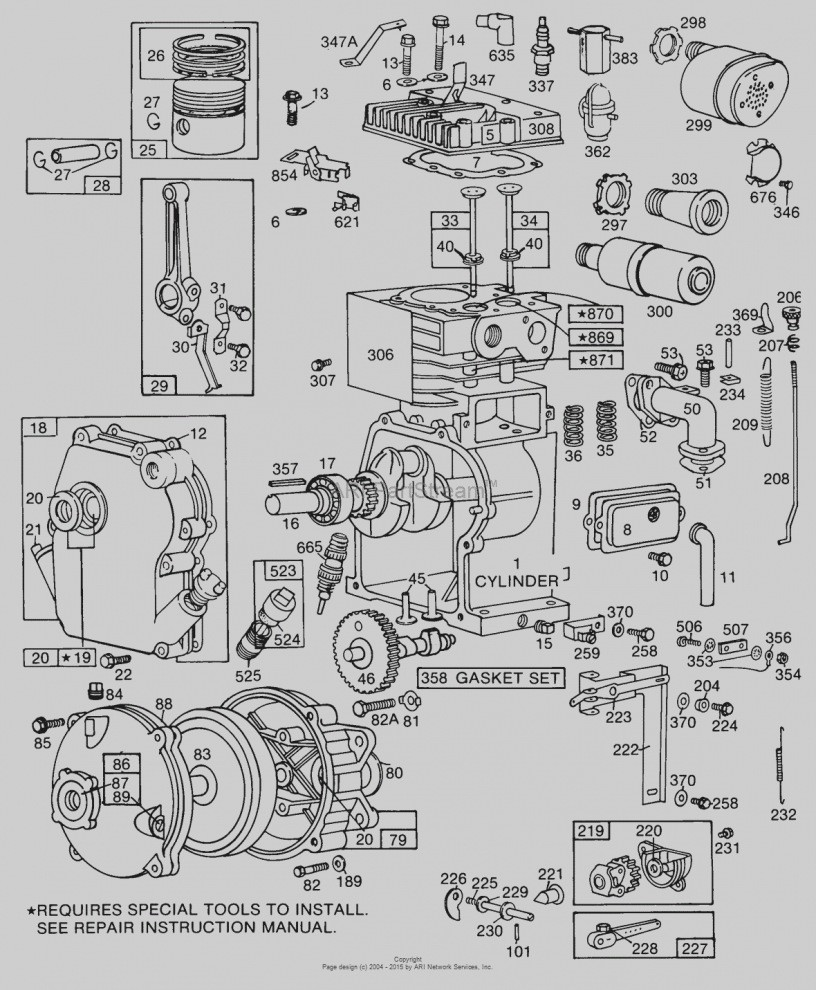 Briggs And Stratton Wiring Diagram 12hp Awesome Image Amp Enchanting 11hp Engine Ponent Electrical