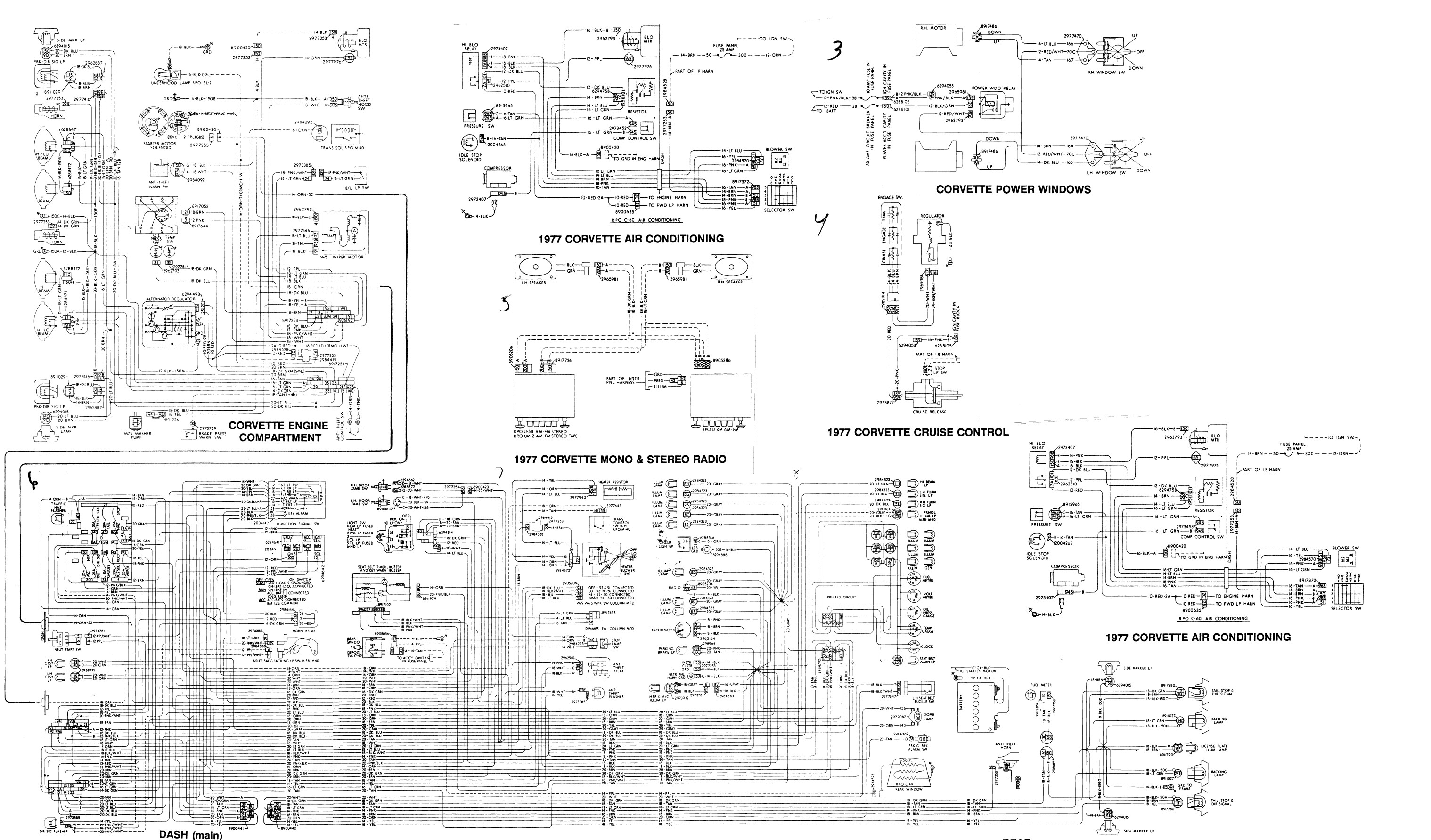 77 Corvette Wiring Harness Starter Fuel 1977 Alternator Diagram C3 Unique Image On