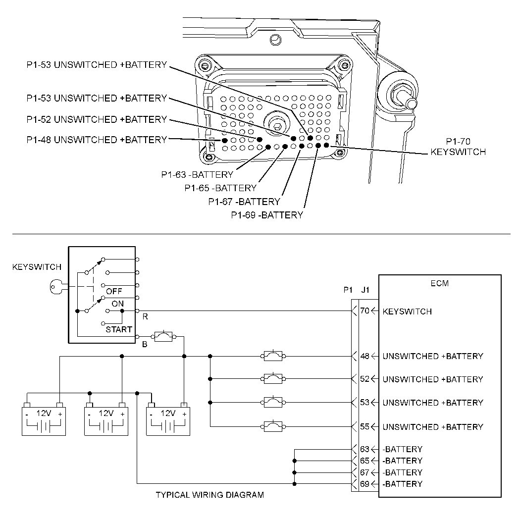 cat 70 pin ecm wiring diagram wiring diagram image rh mainetreasurechest com For Cat 3406E ECM Pins Throttle Sensor Cat 3406E ECM 40-Pin Wiring-Diagram