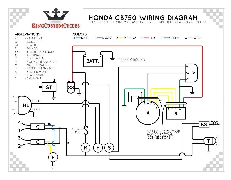 cb750 simple wiring wire center u2022 rh 207 246 123 107 1980 Honda CB750 Wiring-Diagram CB750 Chopper Wiring Diagram