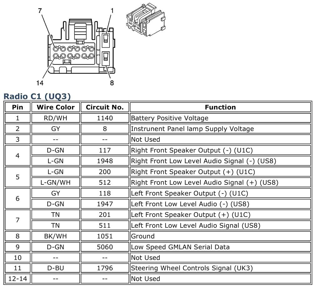 Delphi Radio Wiring Diagram To Chevrolet Cobalt 2006 U2k Stereo New