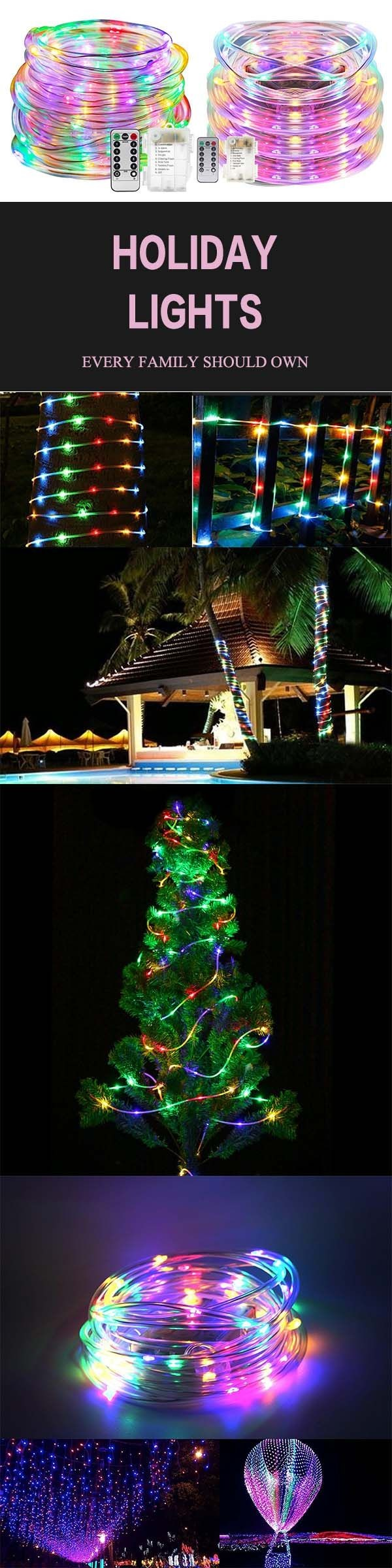 ARILUX Battery Powered 5M 10M Copper Wire LED Rope Fairy String Light For Christmas 13Keys Remote