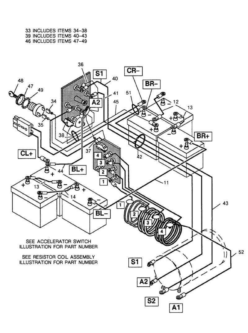 Club Car Wiring Diagram 36 Volt Noticeable Golf Cart Ingersoll Rand