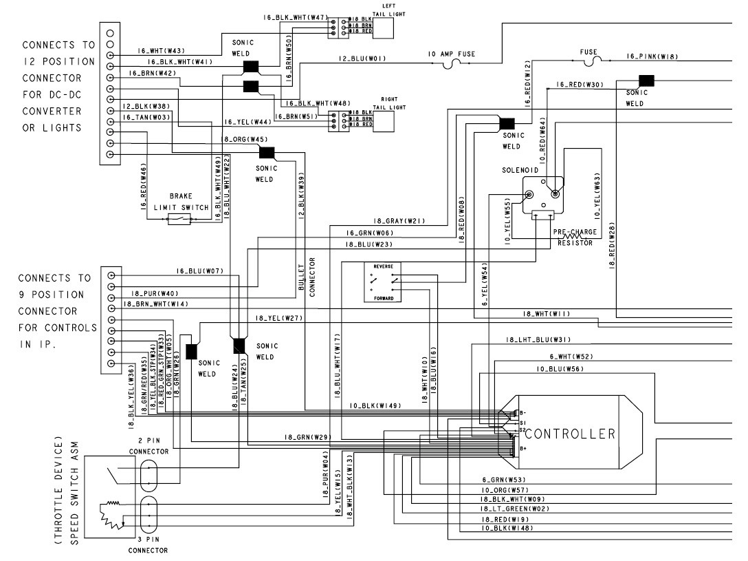 Light Wiring Diagram For Golf Cart