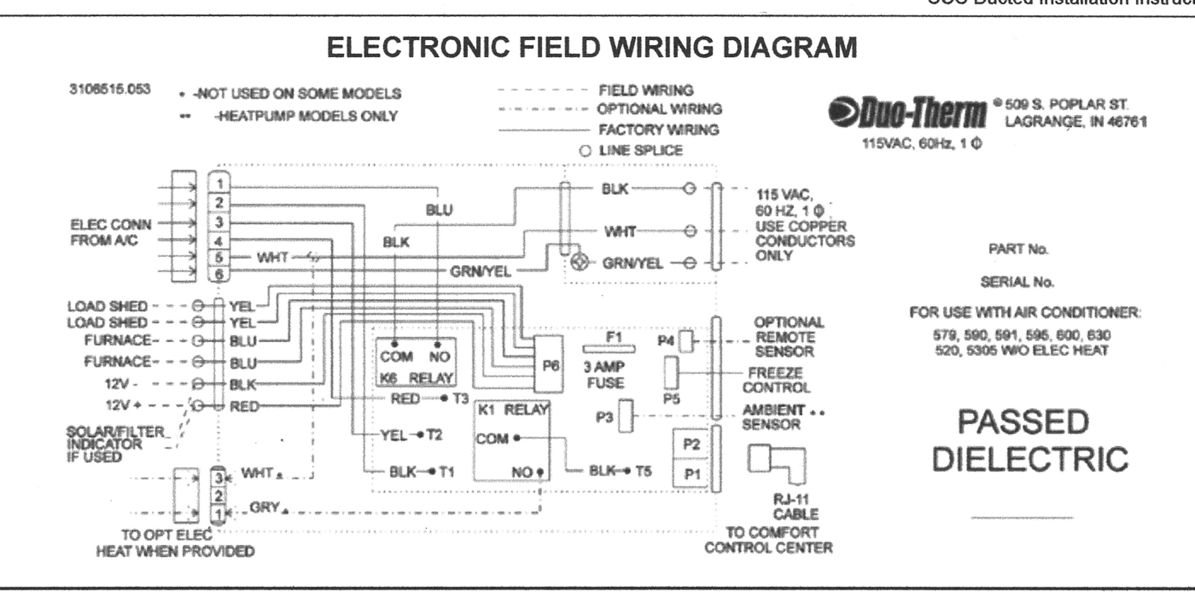 Duo Therm Thermostat Wiring Diagram And Suburban Rv Furnace