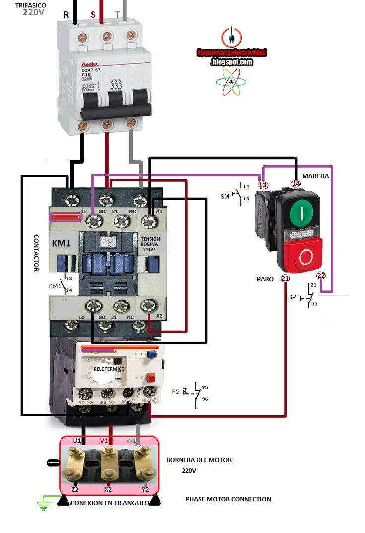 Single Pole Contactor 240v Wiring Diagram - Wiring Diagram