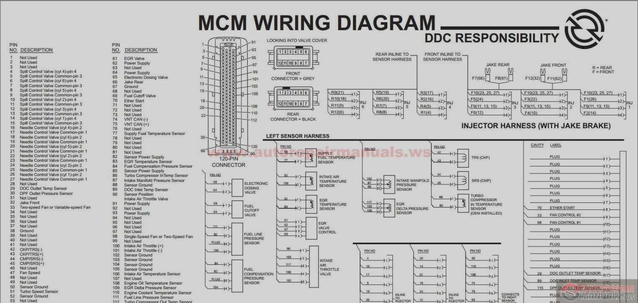 60 series ddec iv wiring diagram explore schematic wiring diagram u2022 rh webwiringdiagram today 2006 Detroit Diesel 60 Series DDEC V ECM Schematic 2007 Detroit Diesel 60 Series DDEC V ECM Schematic