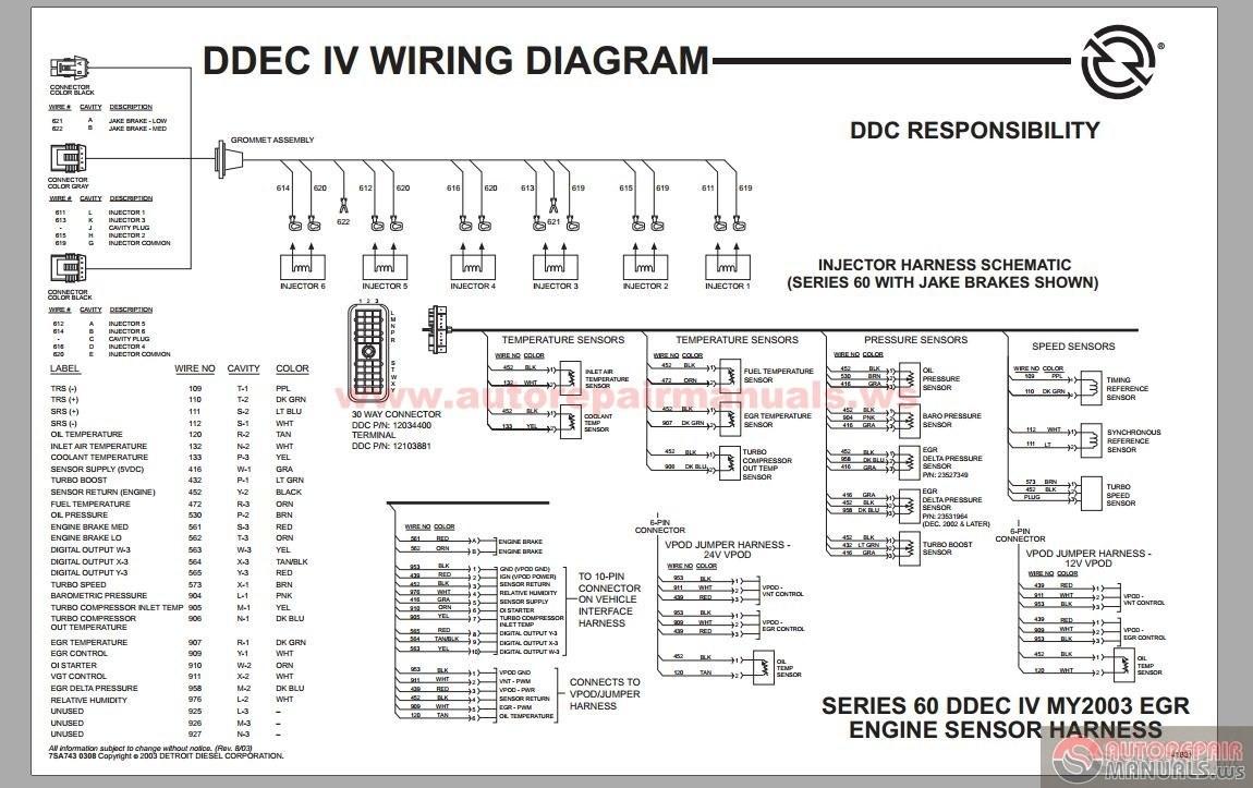 Ddec 3 Ecm Wiring Diagram Iii With Detroit Series 60