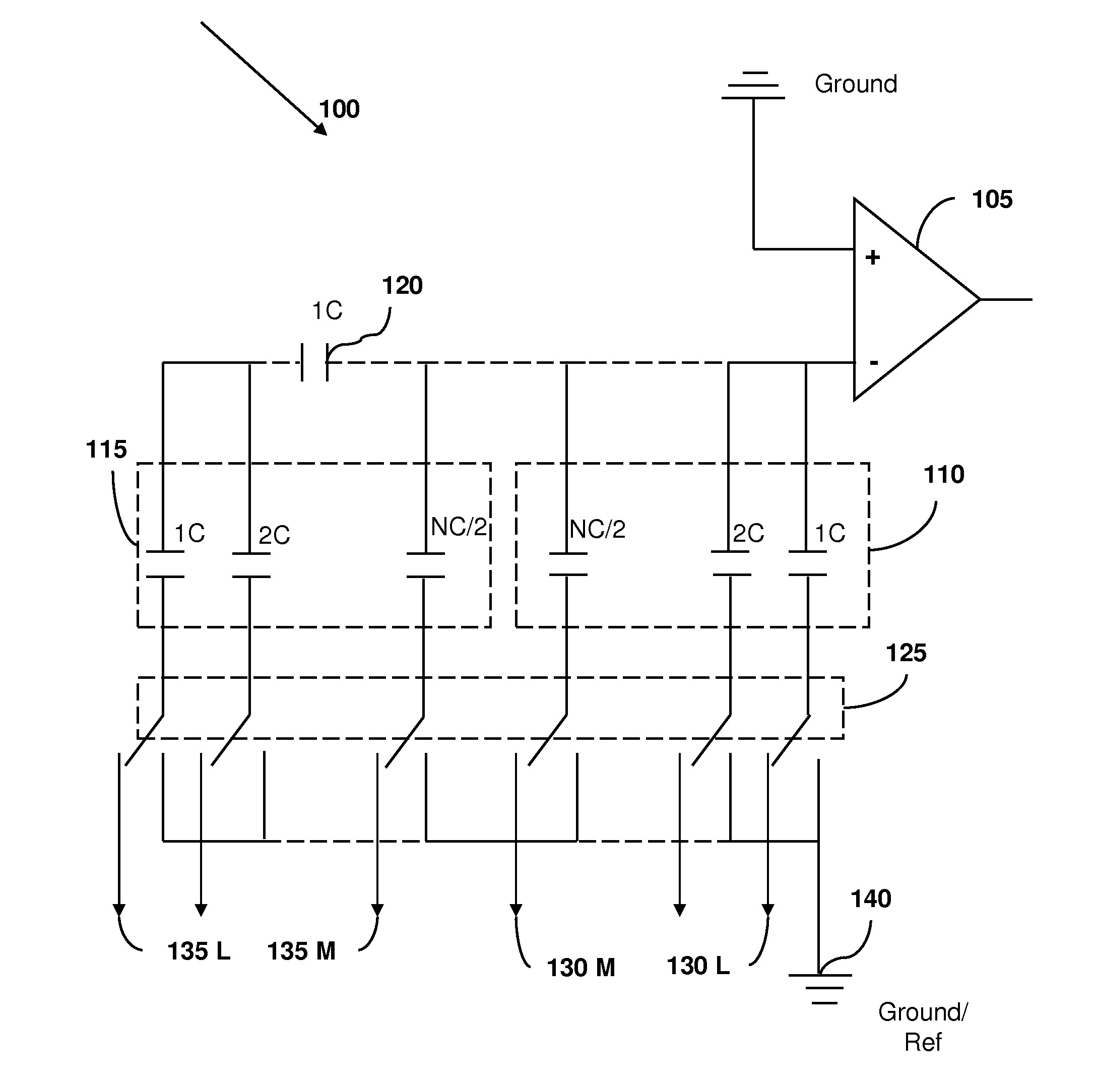 Patent Us Capacitor Based Digital To Analog Converter Drawing op and as an amplifier
