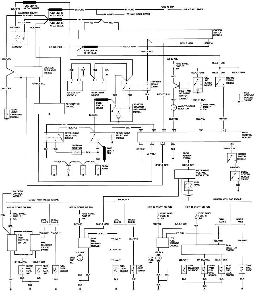 Bronco II Wiring Diagrams