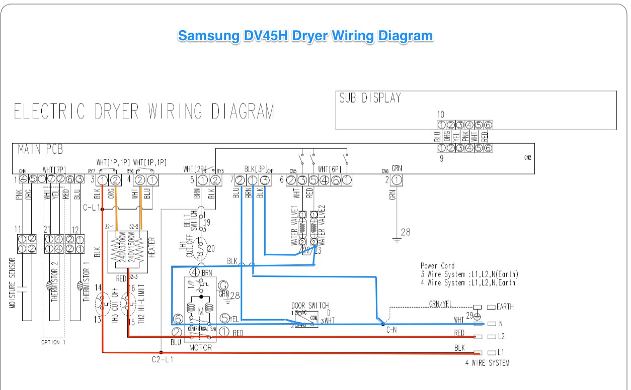 Samsung DV42H Dryer Wiring Diagram The Appliantology Gallery Simple Wire