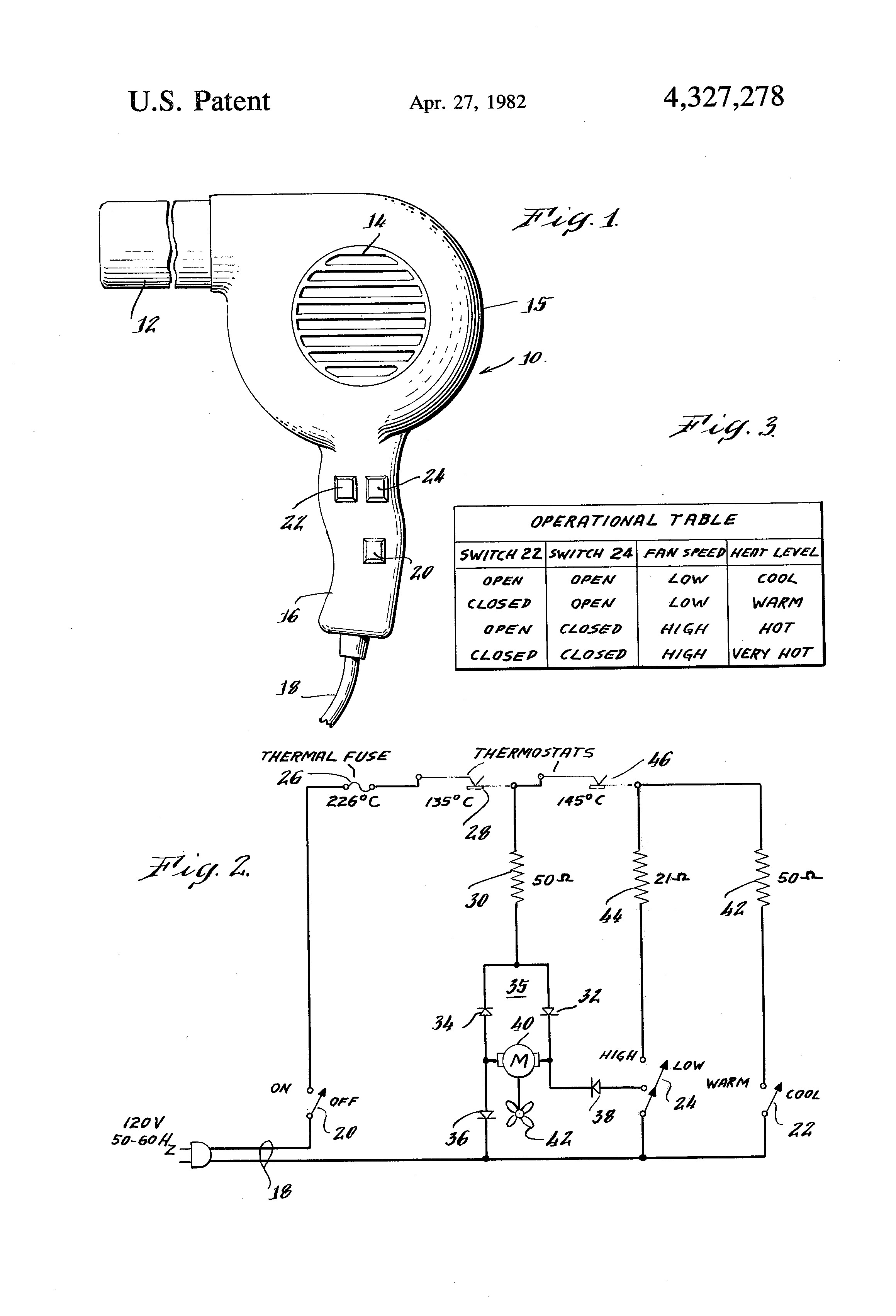 Patent Us Simplified Multiple Speed Hair Dryer Google Drawing how to make circuit diagram