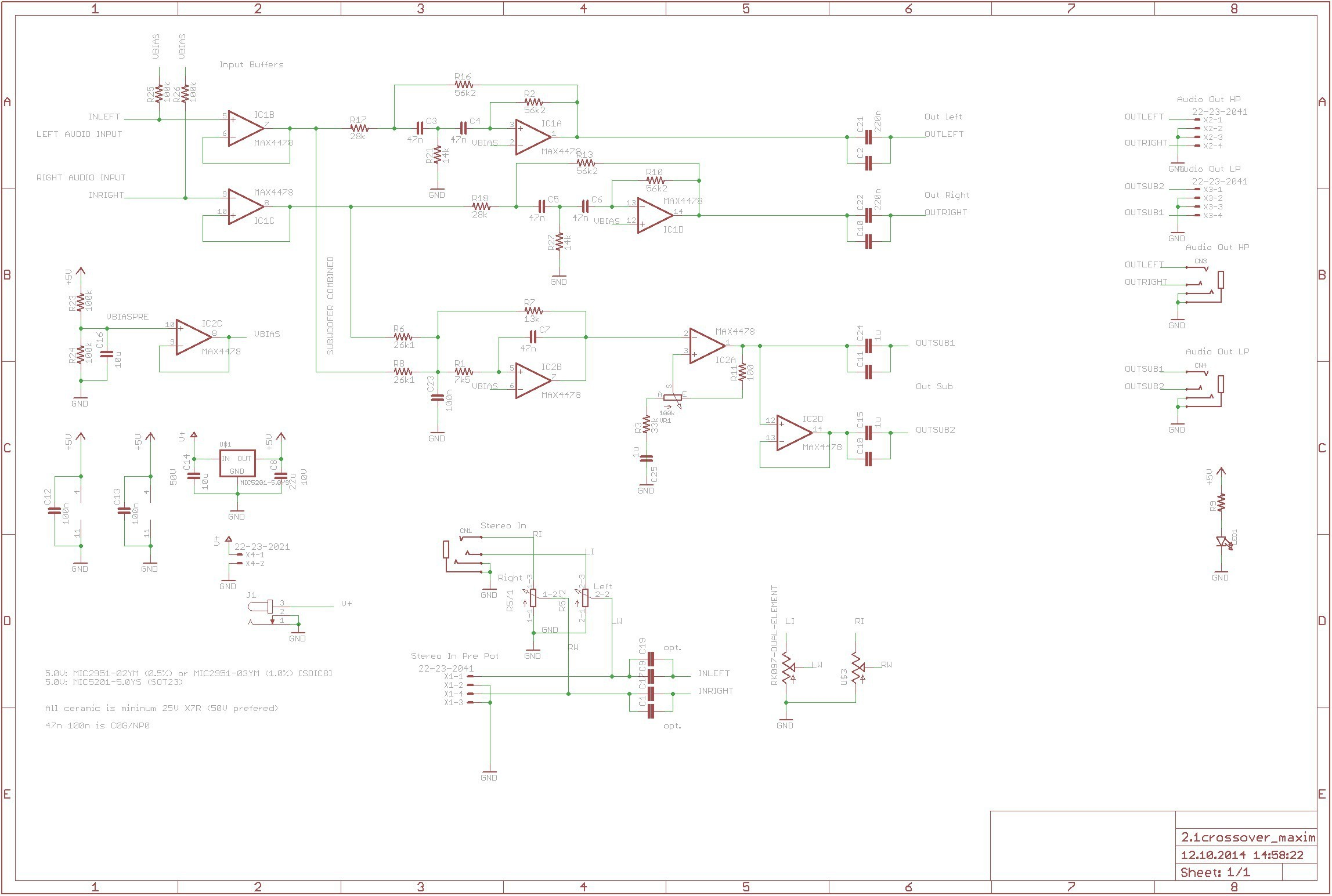 Aktive Crossoverfrequenzweiche Mit Max4478 360customs Crossover Schematic Rev 0d wiring lighting circuit scr circuit