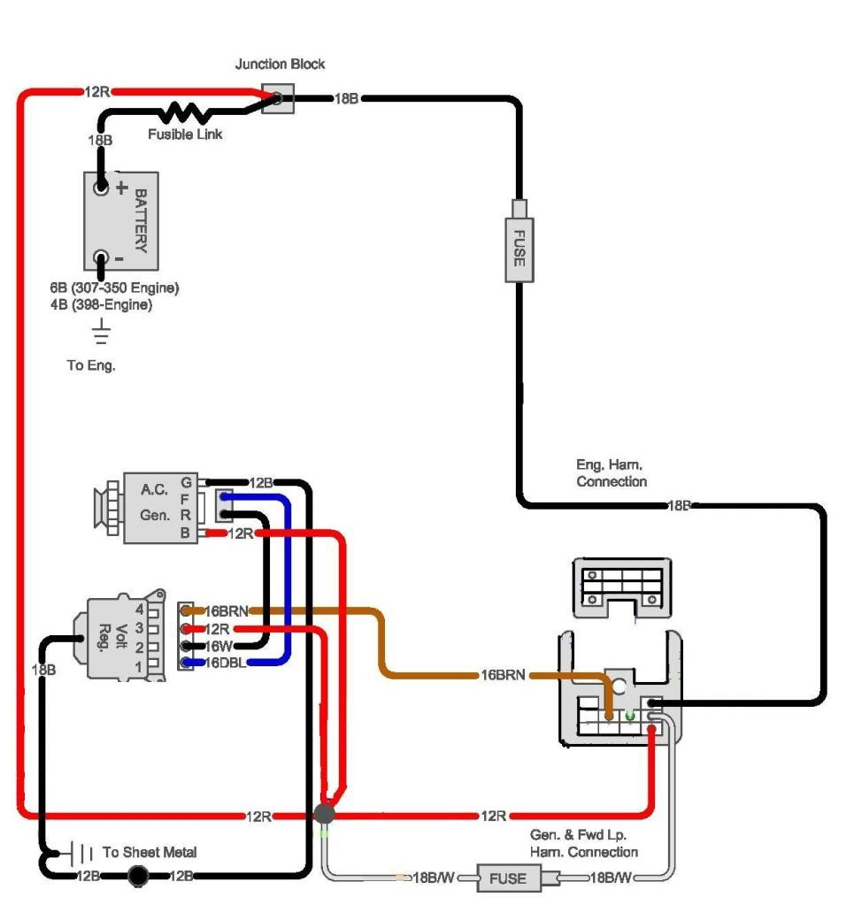 1970 chevy c10 alternator wiring diagram circuit and