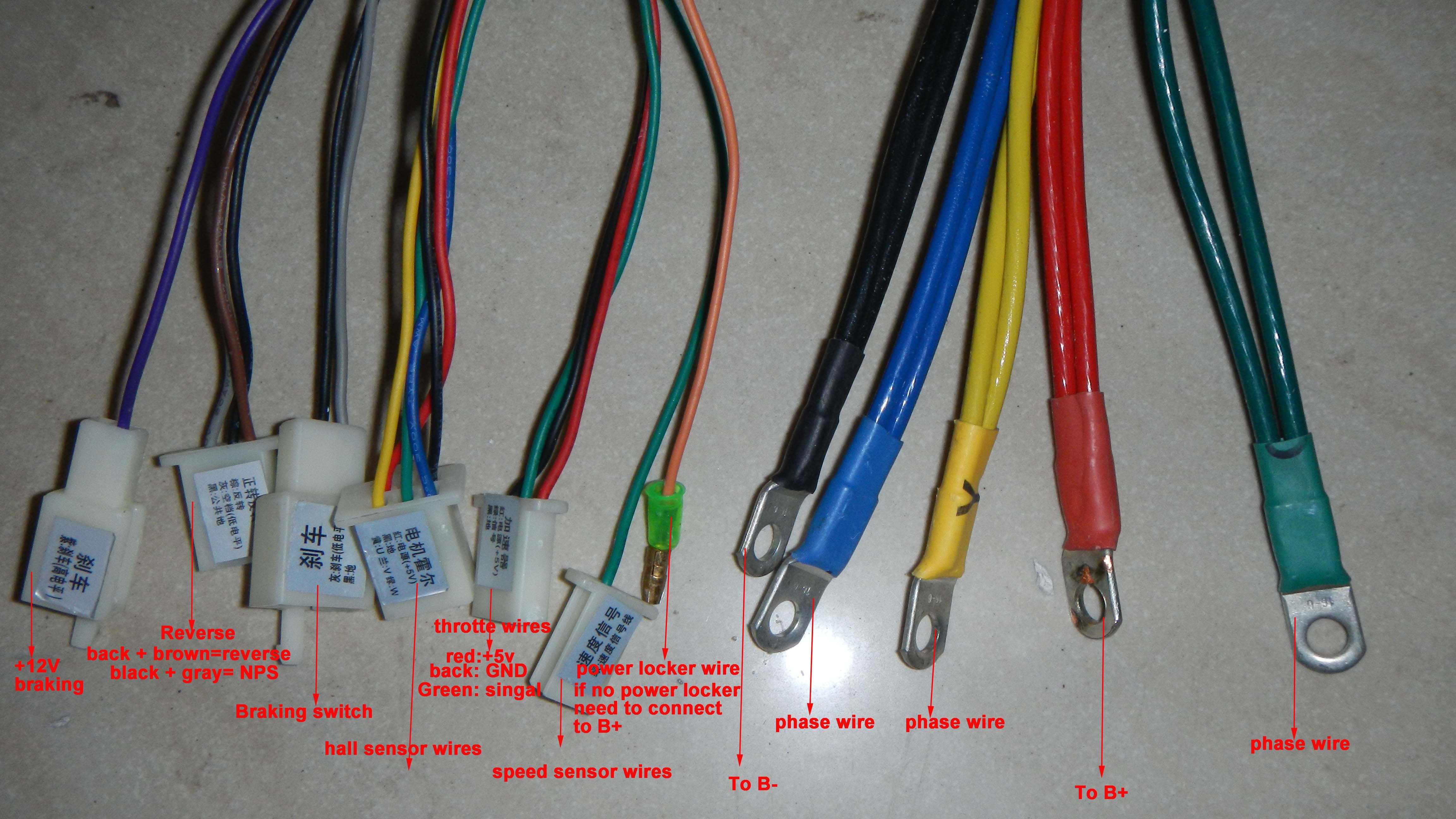 60v2200wntroller wires