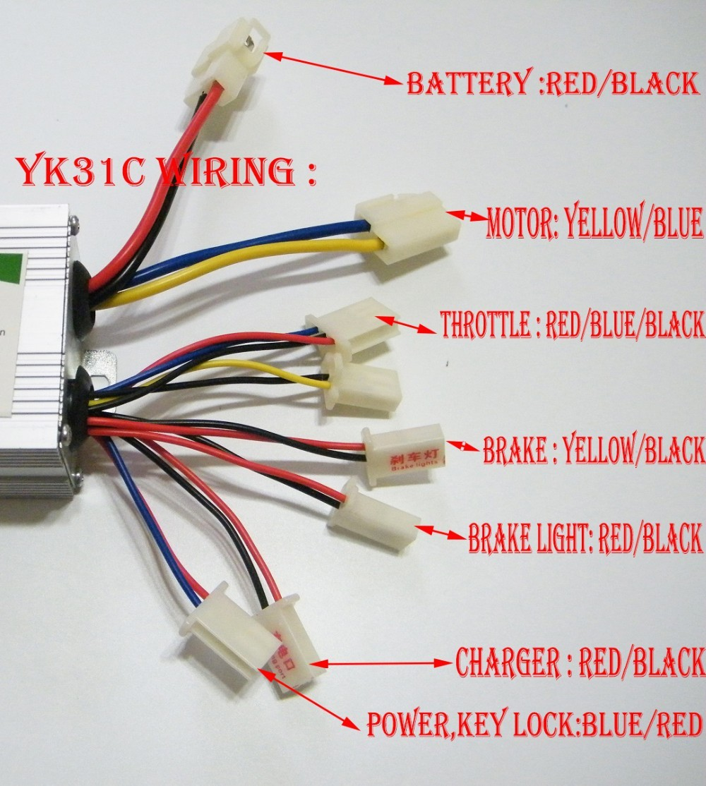 E Bike Controller Wiring Diagram Image 36v Electric Scooter 800w Set Twist Throttle Brake Lever Kit For Yiyun