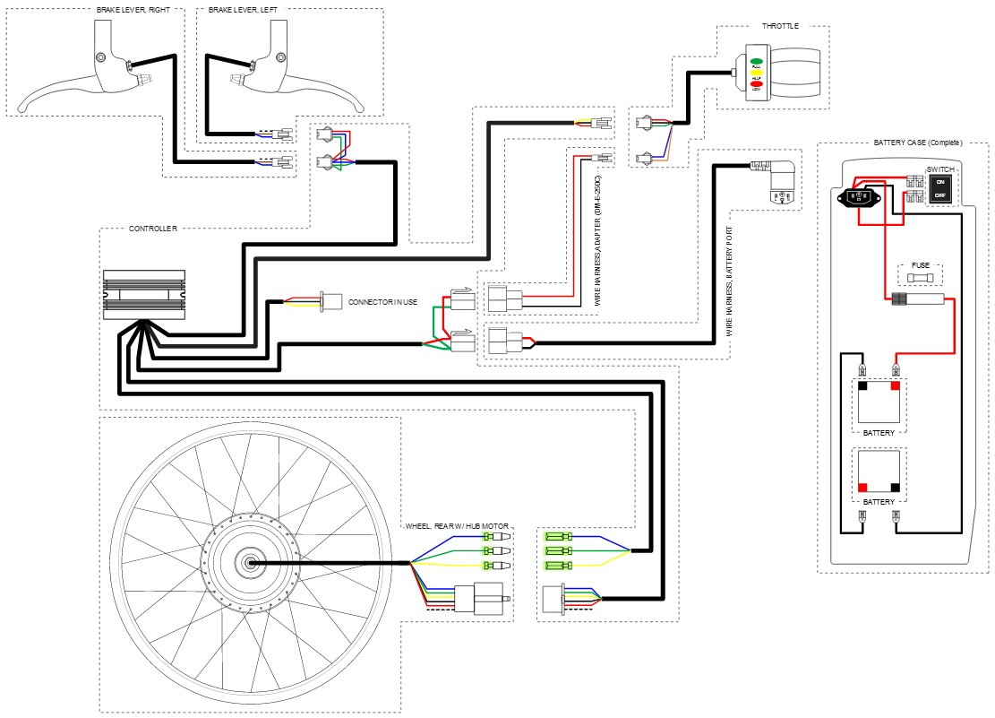 Snap Super Scooter Wiring Diagram Electricbikecom Ebike Forum E Bike Controller Image