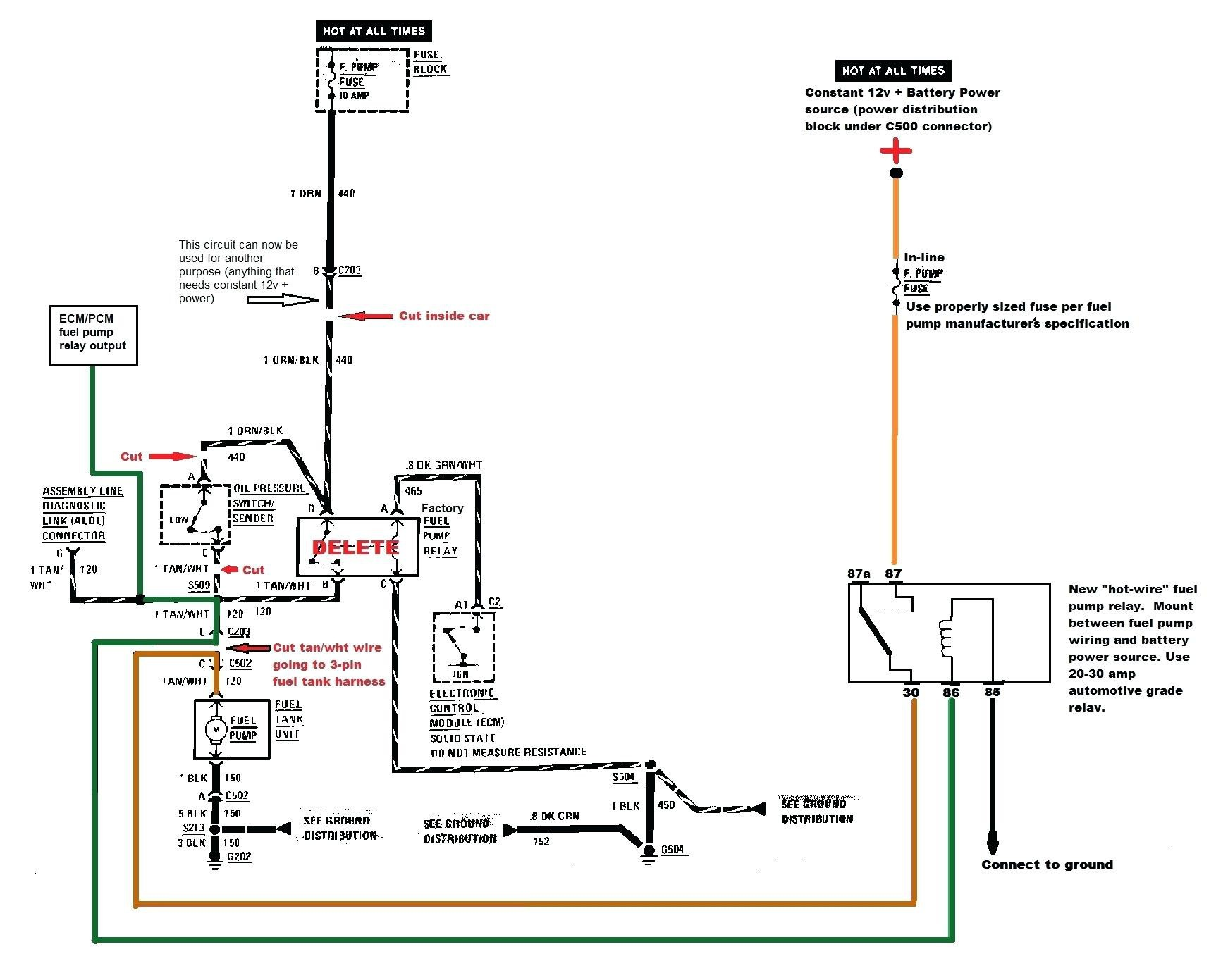 Electric Fuel Pump Relay Wiring Diagram New | Wiring Diagram Image