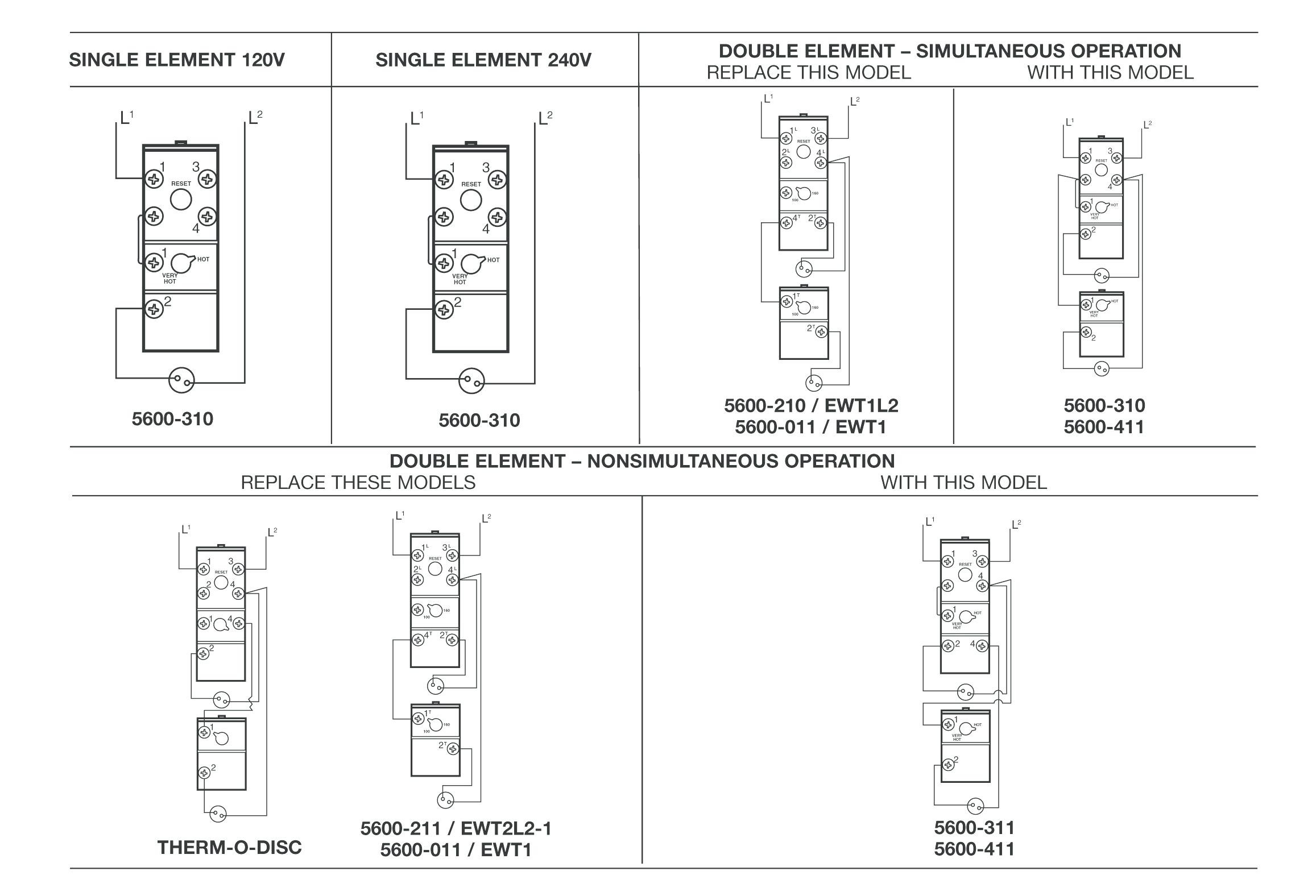 Atwood Hot Water Heater Wiring Diagram Products Series Electric Thermostat Diagrams