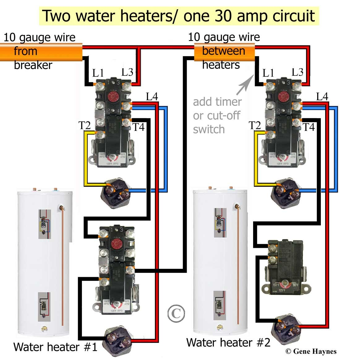 Simultaneous wiring will heat top of tank first Redundant will turn ON as soon as cold water enters tank How electric water heater works