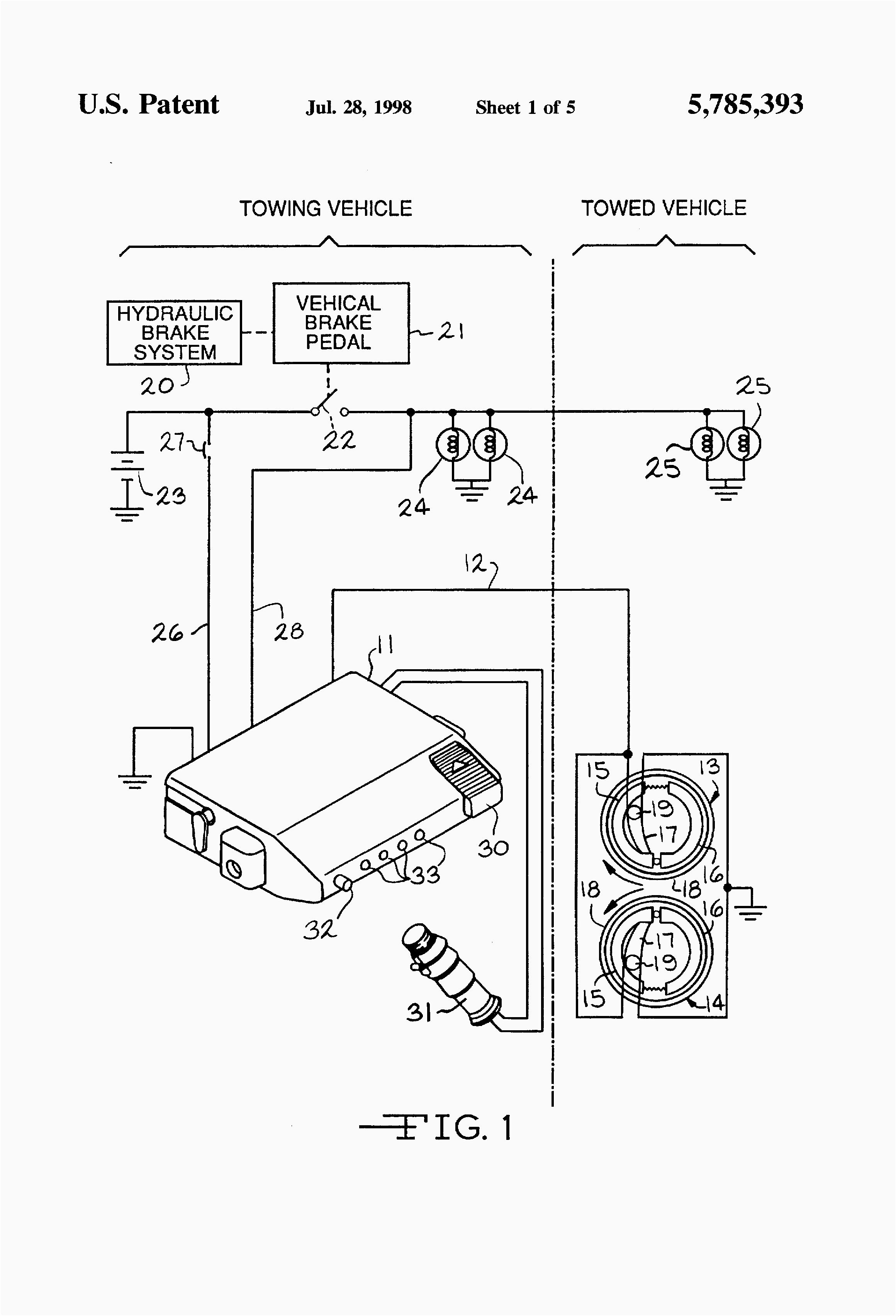 Electric Trailer Brake Controller Wiring Diagram Periodic Tables Extraordinary Wire For Brakes