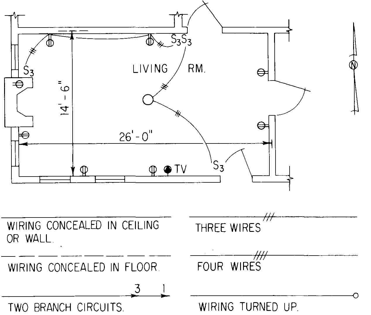 Architectural Wiring Diagram Symbols Circuit Pictorial House Electrical Plan Rh Color Castles Com Software