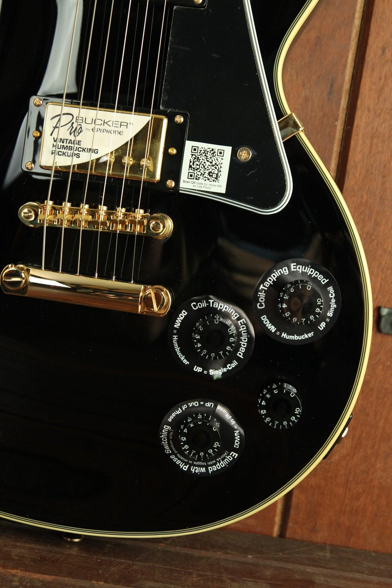 Electric Guitars Epiphone Les Paul Paul Custom Pro Ebony Electric Guitar