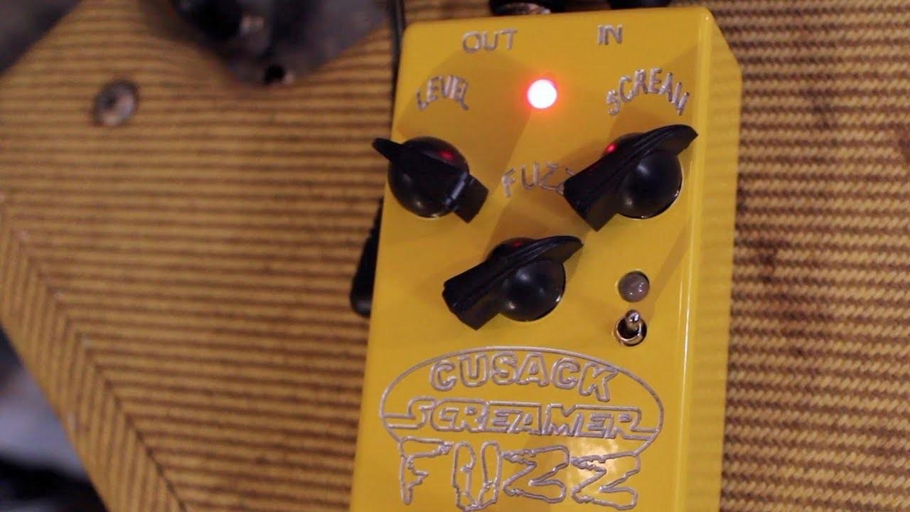 The Cusack Music Screamer Fuzz Hybrid Fuzz OD Pedal Demo