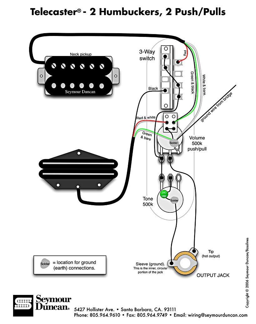 Tele Wiring Diagram 2 humbuckers 2 push pulls