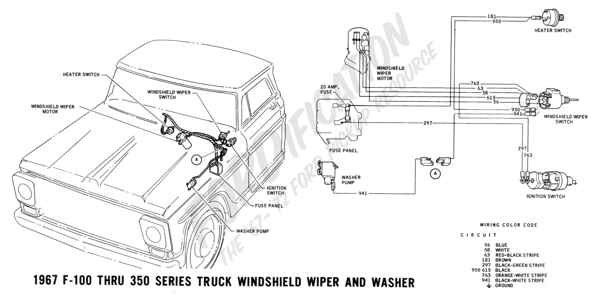 64 Chevy C10 Wiring Diagram 65 Truck Another Blog About Color 1965 Wiper Motor U2022