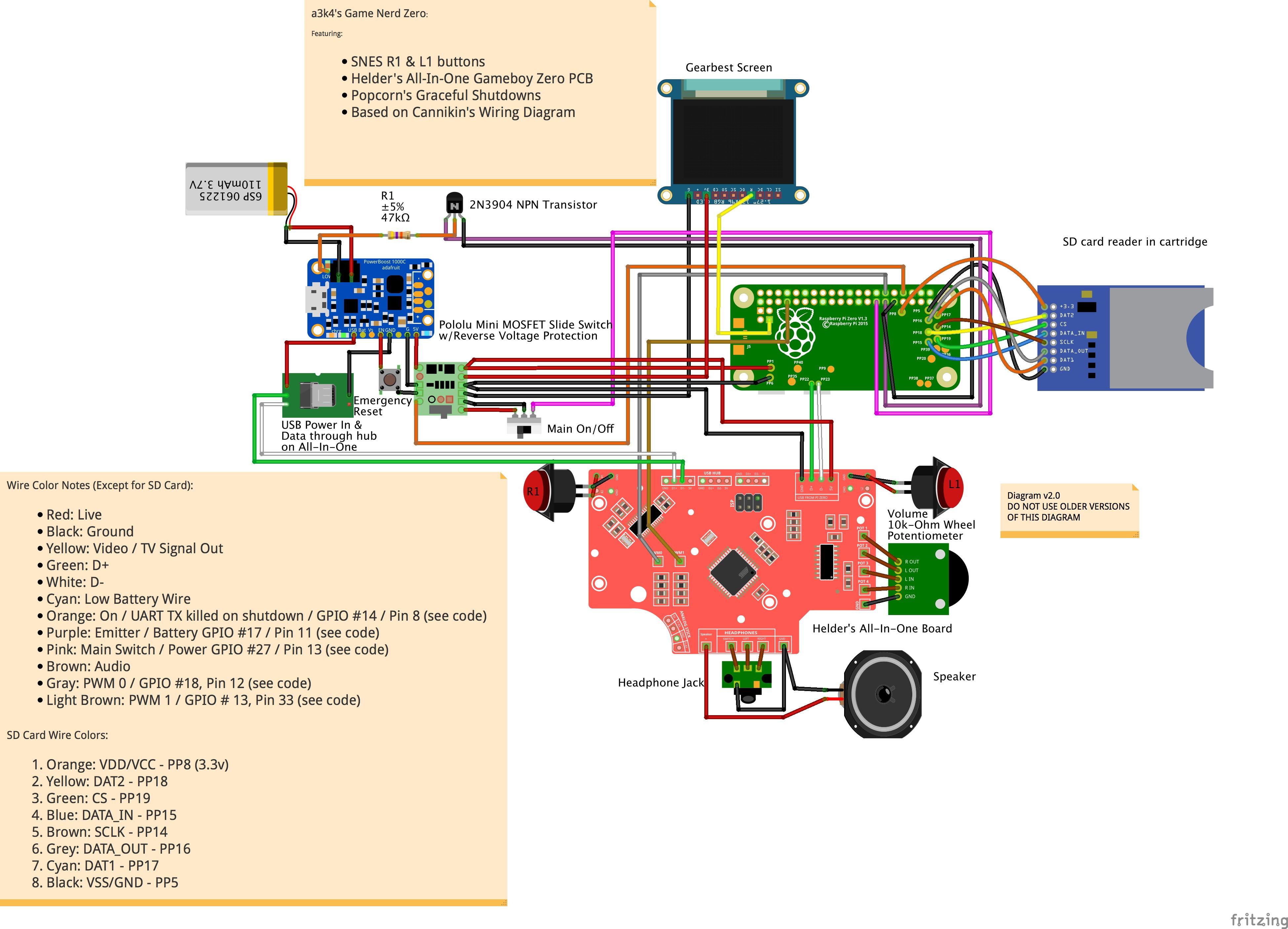 Gameboy Circuit Diagram Wiring Image Chest Zer A3k4 S Game Nerd Zero Diagrams