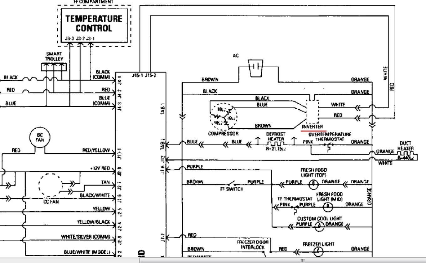 Refrigerator Understanding Fridge Wiring Diagram Home With pressor In