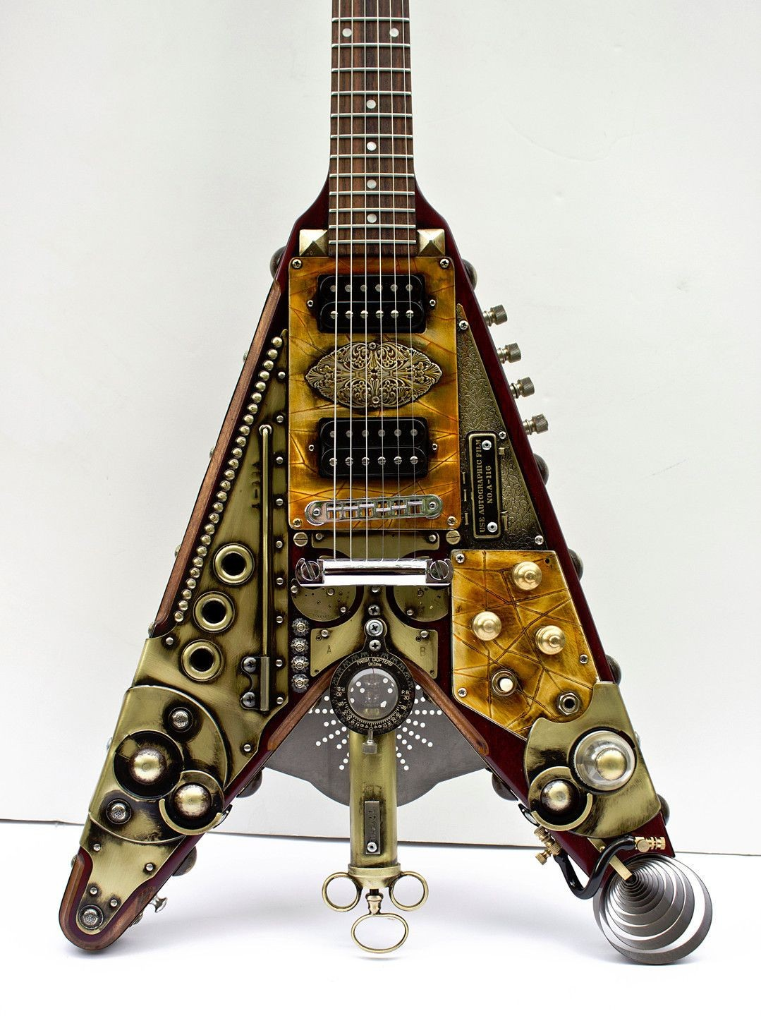 Gibson Flying V Wiring Diagram Image Steampunk Guitar Custom Made Vee 1