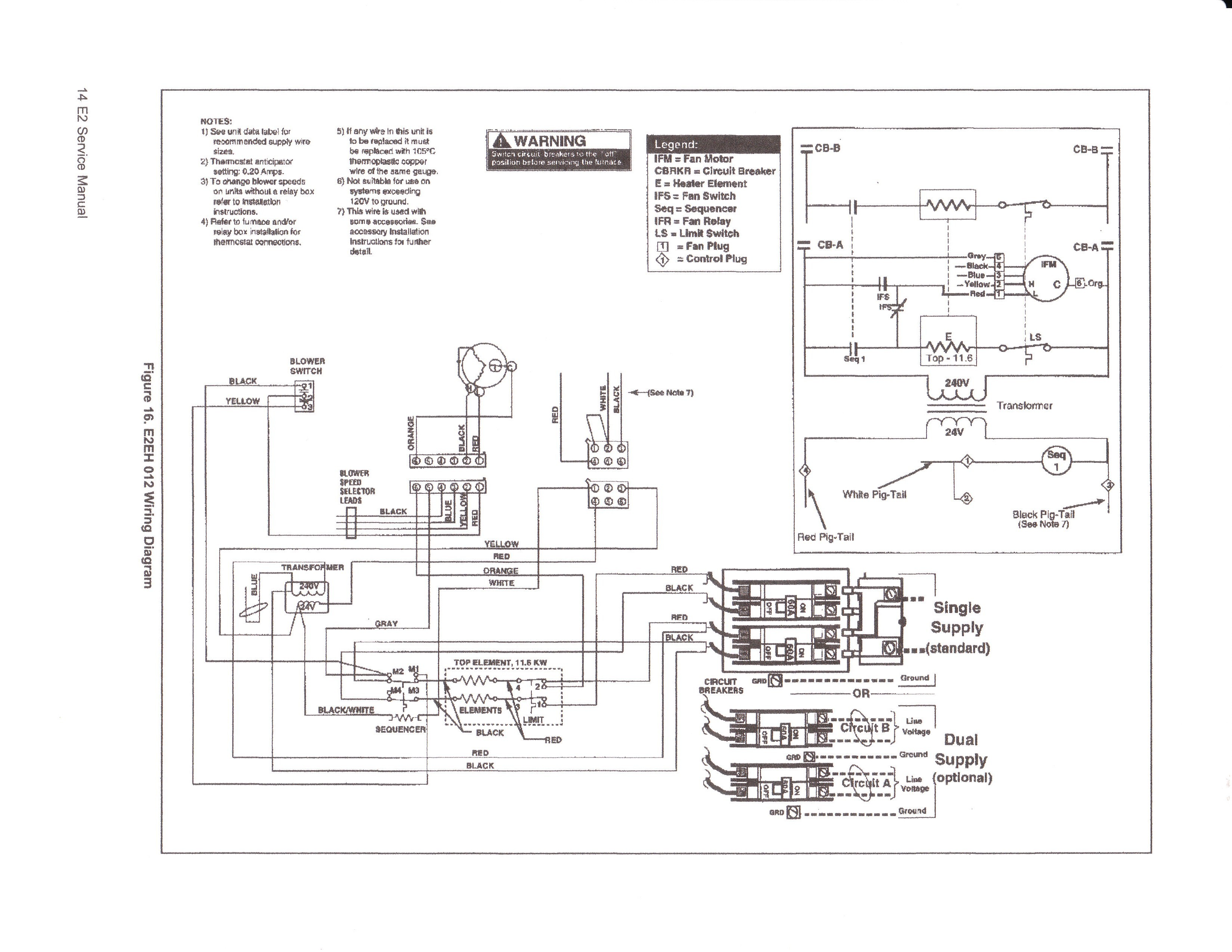 Wiring Diagram Electric Furnace Wire Goodman To Ripping Diagrams